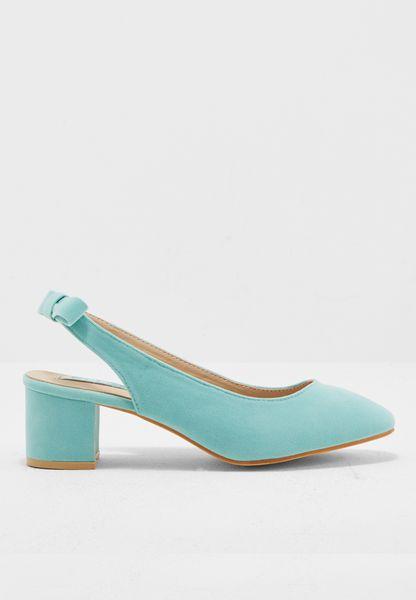 Slingback mid heel