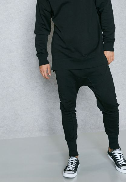 Panelled Jersey Joggers