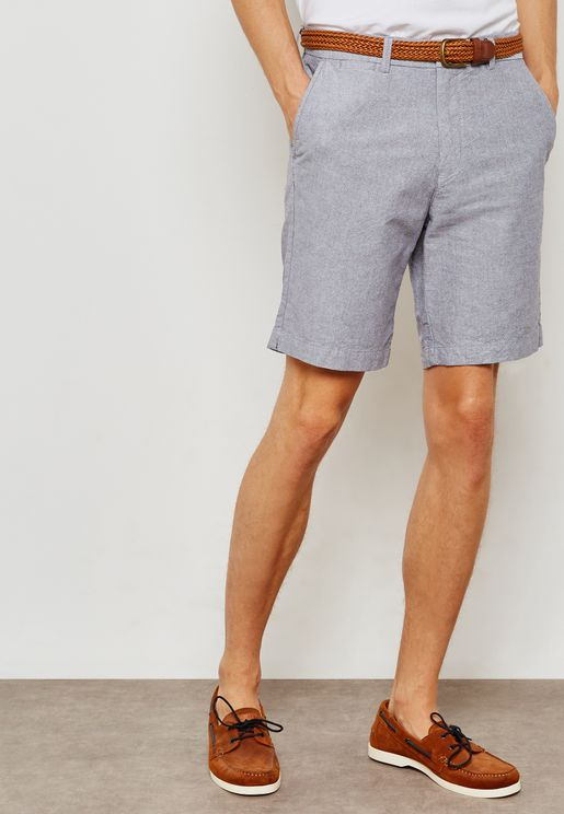 Oxford Belted Shorts