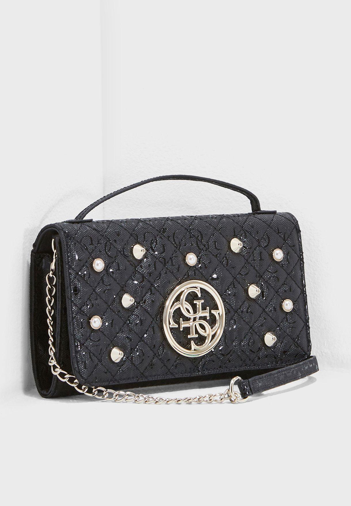 289947208131 Shop Guess black Gioia Shoulder Bag SG698979BLA for Women in UAE ...