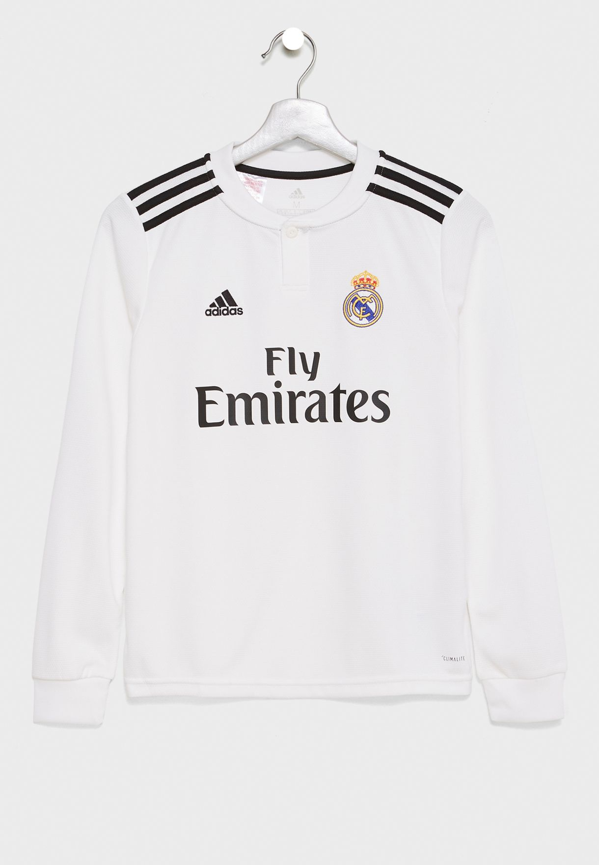 a770a5f818d55 Shop adidas white Youth Real Madrid 18/19 Home Jersey CG0546 for ...