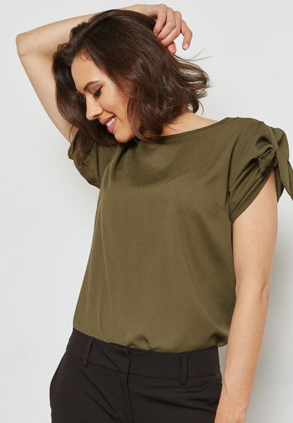 Tie Puff Sleeve Top