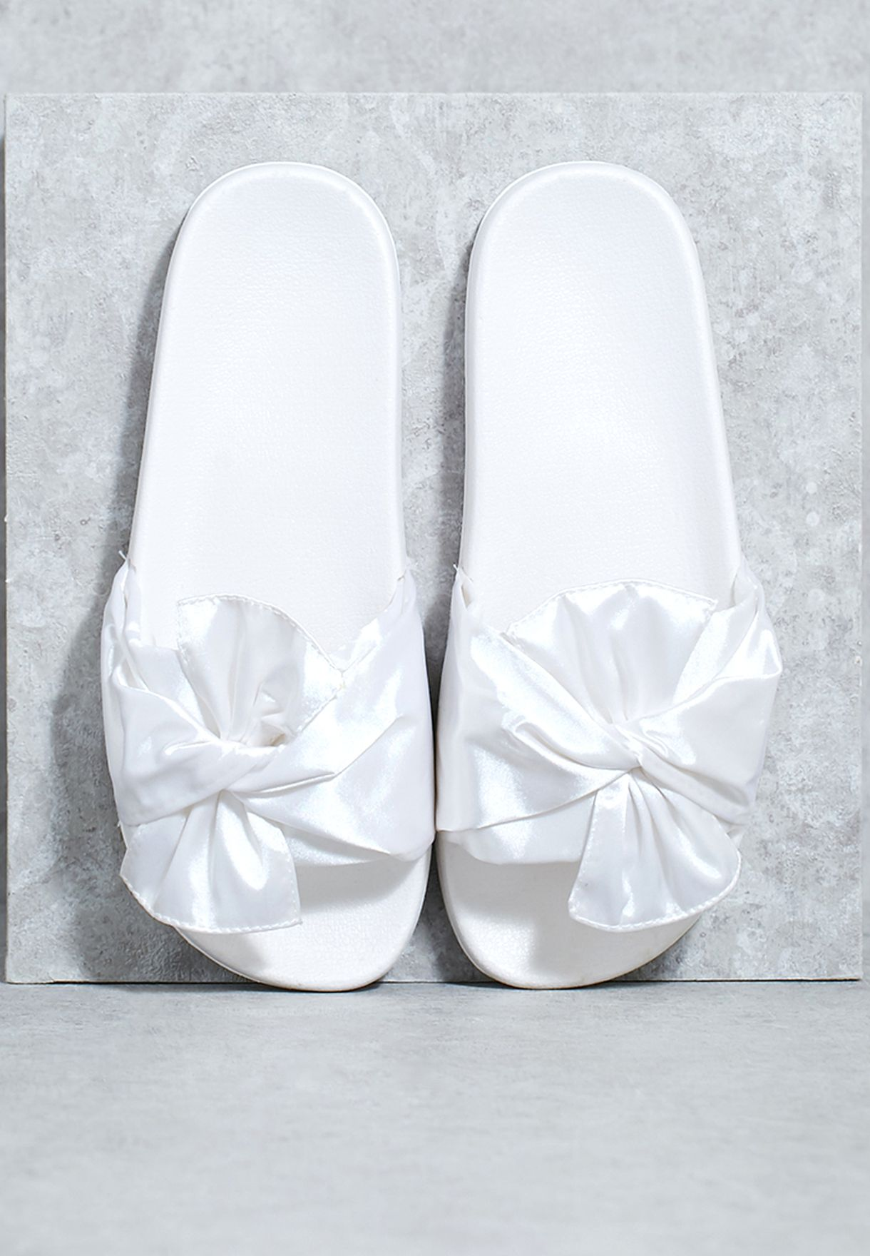 size 40 a0ae6 21119 Satin Bow Slides