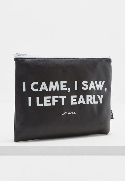 Left Early Zip Pouch