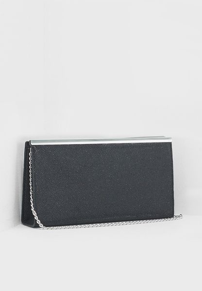 Shimmer Bar Top Clutch Bag