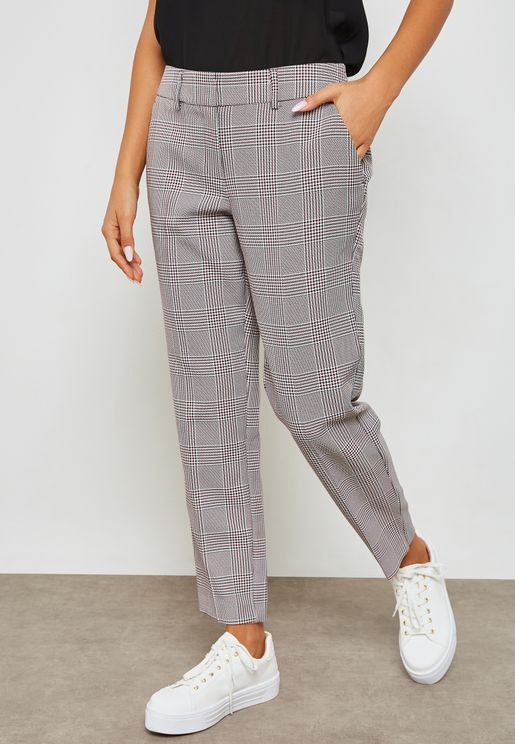 Checked Ankle Grazer Pants