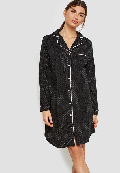 Button Detail Nightdress