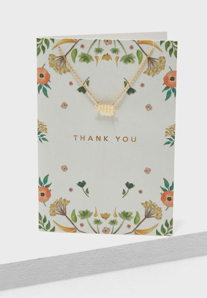 Thank You Leaf Necklace Giftcard