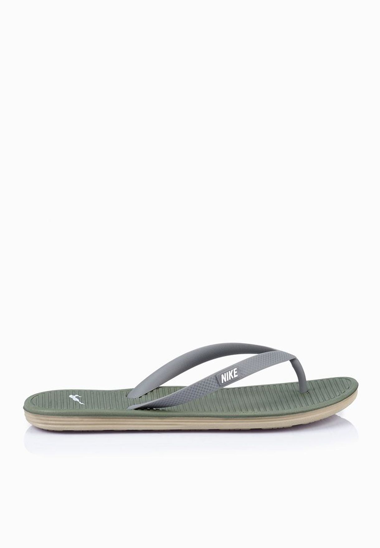 ef5b48440f16a Shop Nike green Solarsoft Thong 2 488160-308 for Men in Kuwait -  NI727SH64HVZ