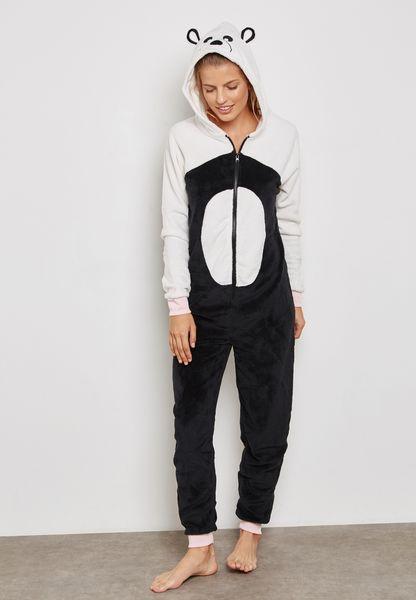 Panda Colourblock Onesie