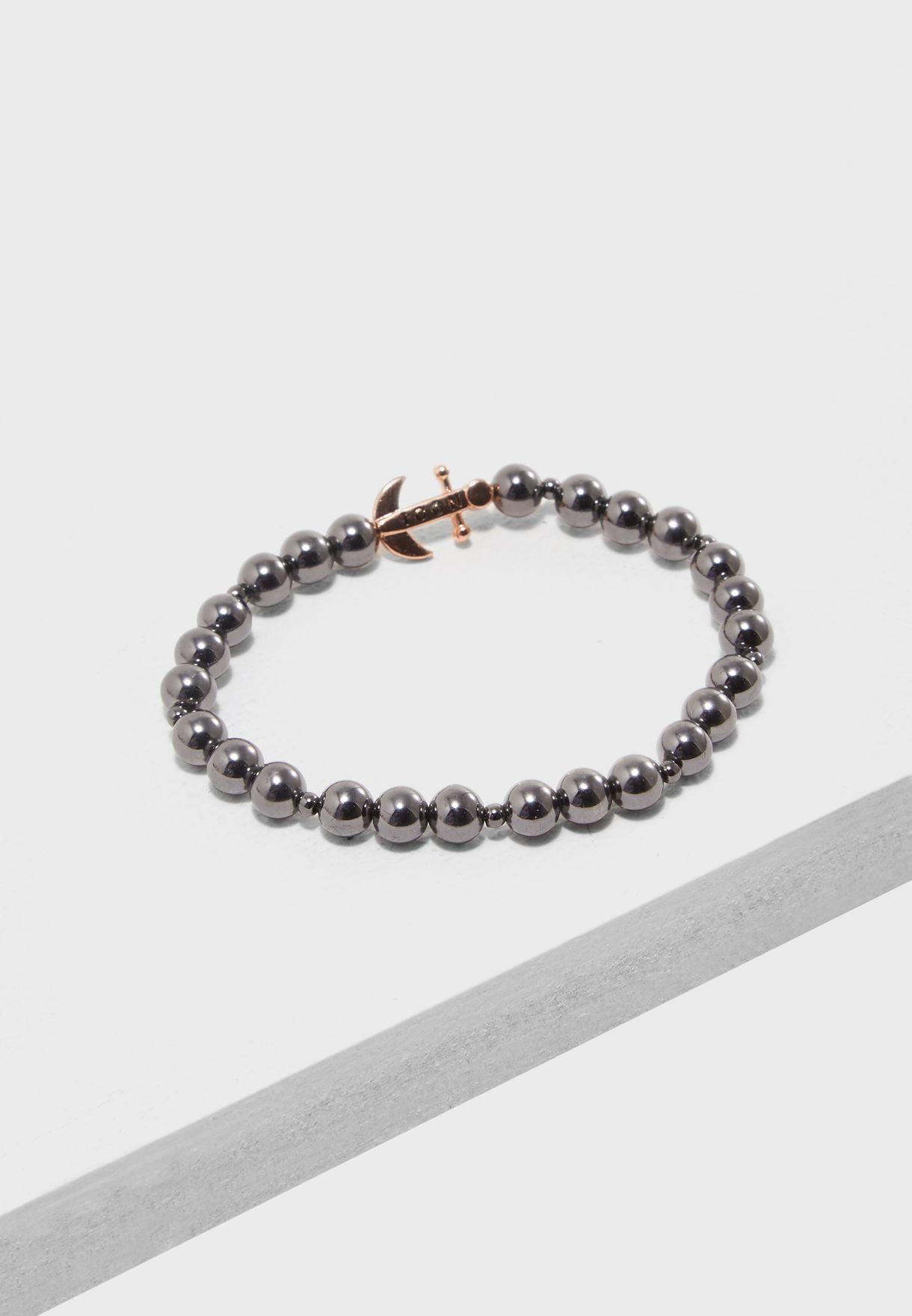 Finish Stretch Bead Bracelet