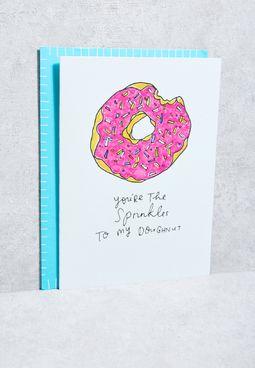 Sprinkles To My Donut Card