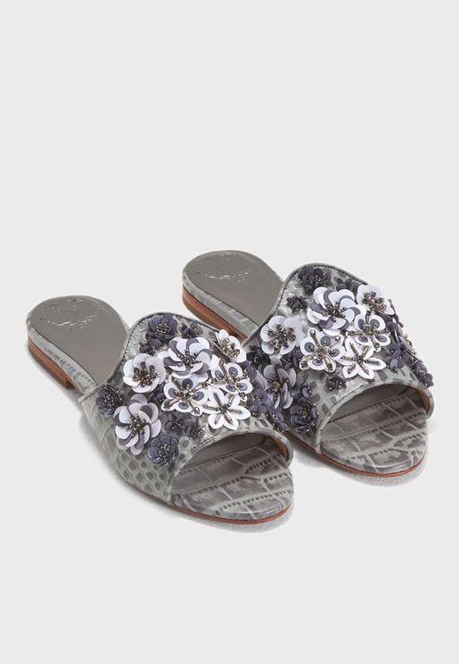 Clio Flower Embellished Sandal