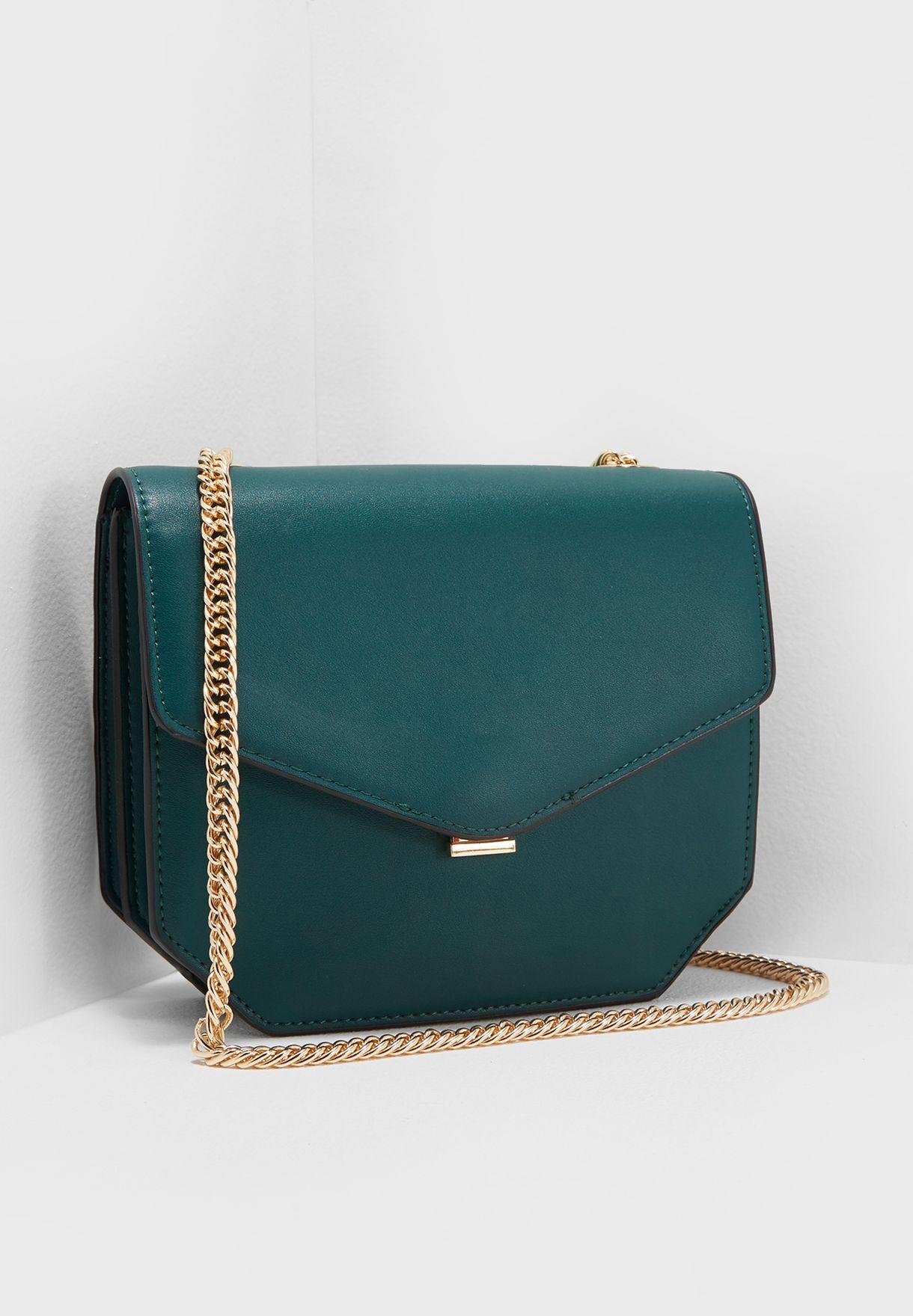 ec896a0b24de Shop Violeta by MANGO green Chain Crossbody 23060511 for Women in ...