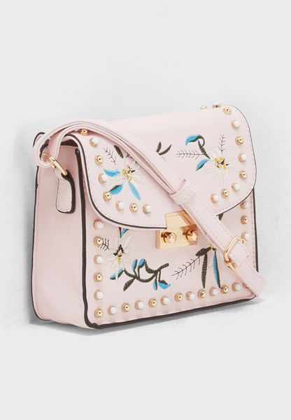 Floral Embroidered Crossbody
