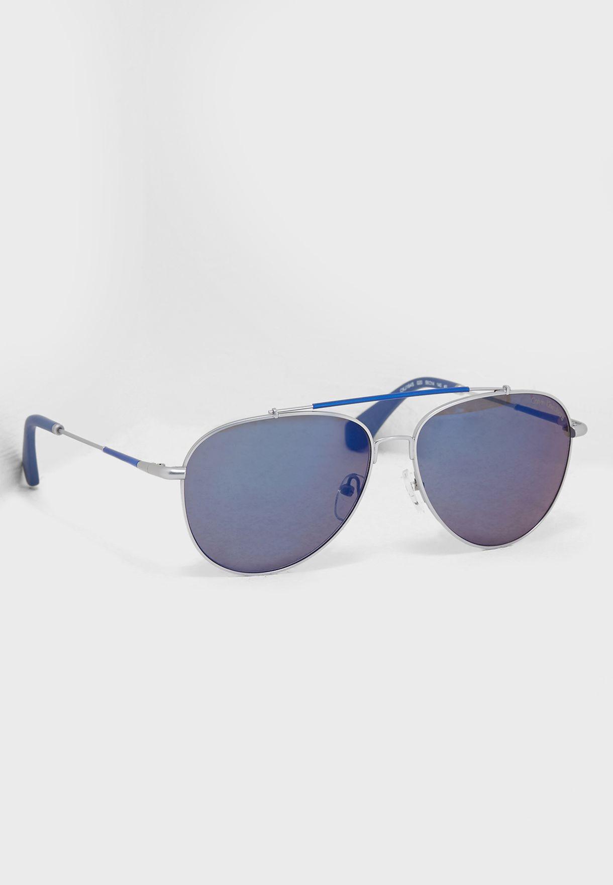 ccc841cf24be Shop Calvin Klein Jeans silver Aviator Sunglasses CKJ164S for Men in Saudi  - CA294AC64BBJ