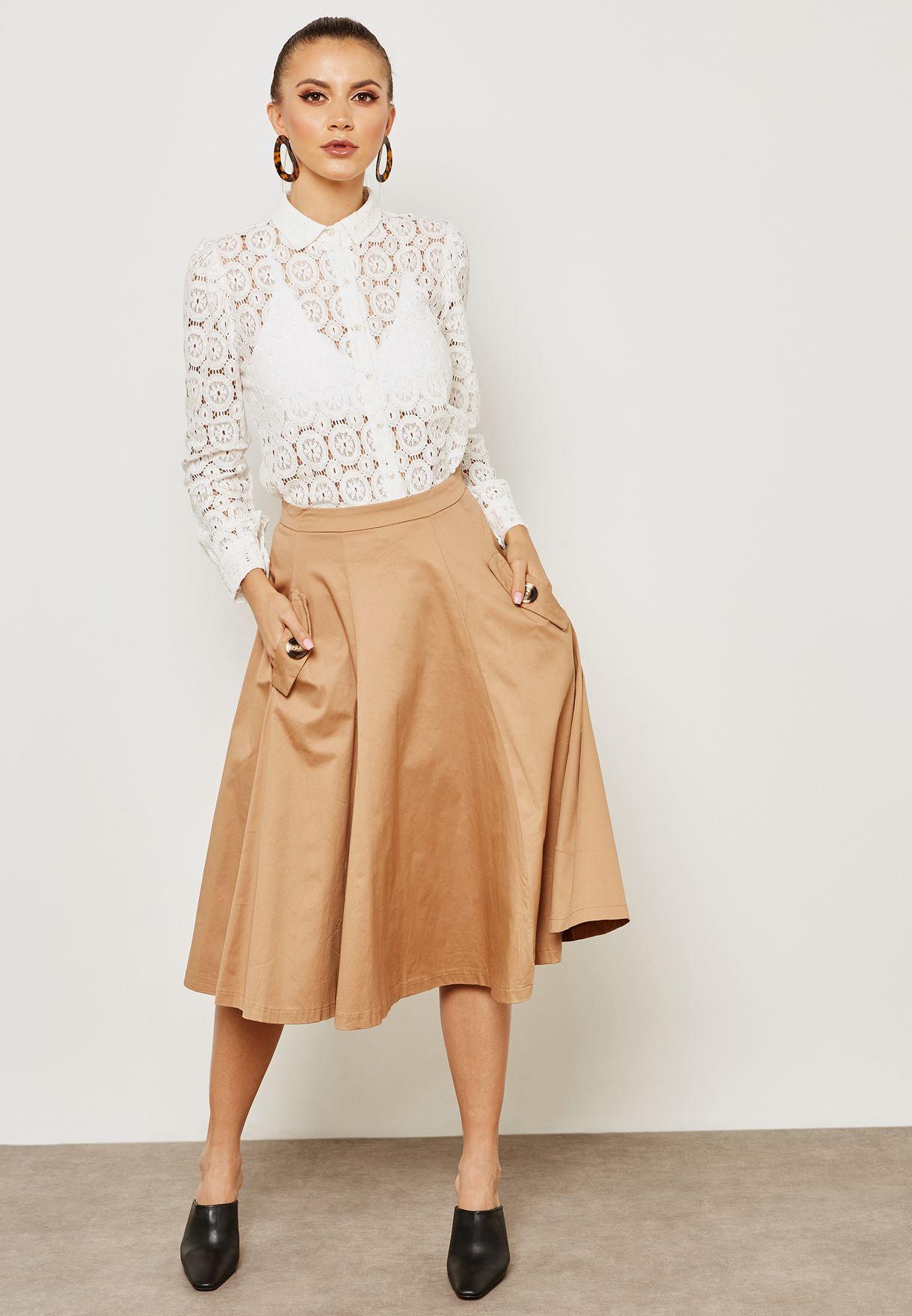 Pocket Detail Skirt
