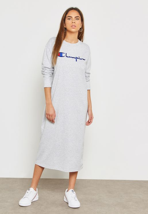 Logo Crew Neck Dress