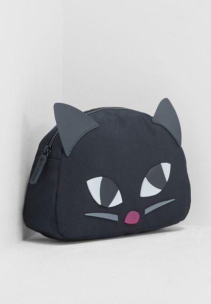 Large Kooky Cat Cosmetic Bag