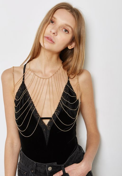 Drape Shoulder Body Chain