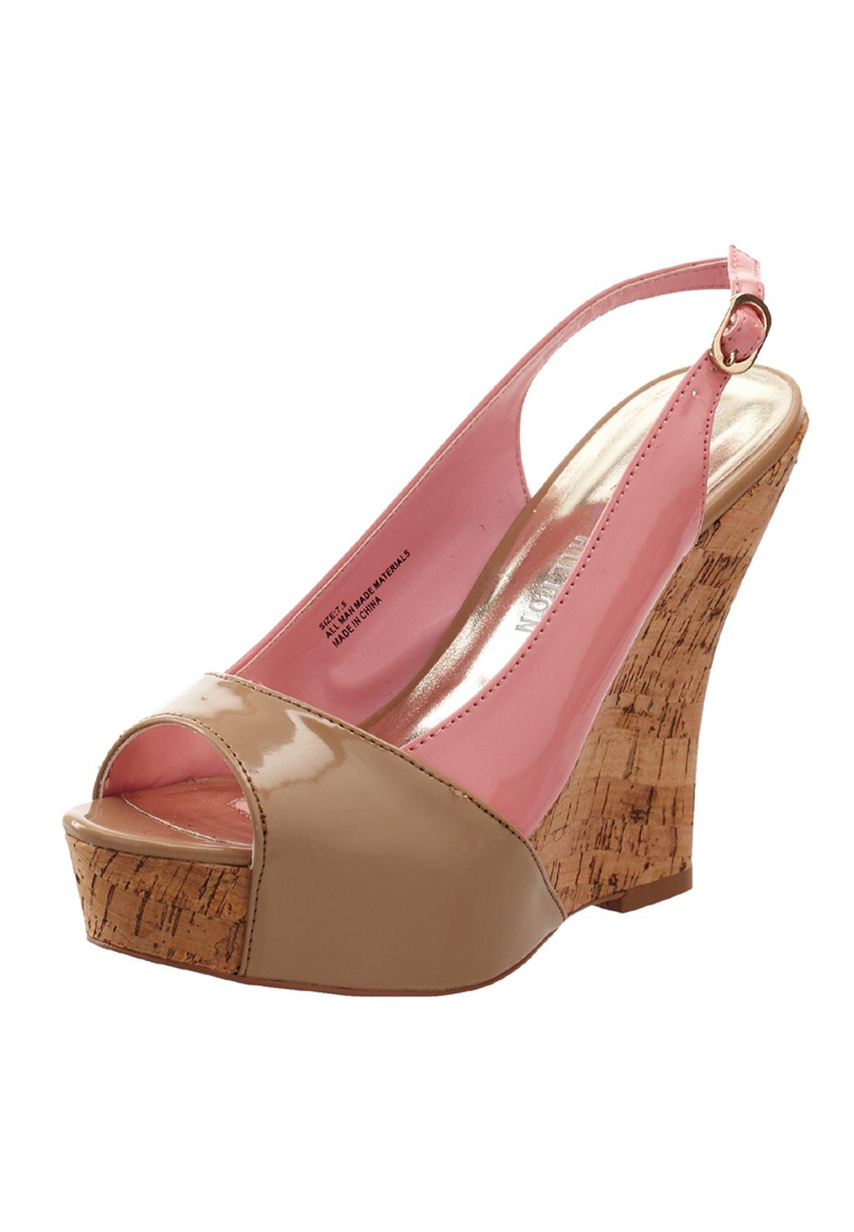 2b2792eeaa80c1 Shop Paris hilton pink Alaya Wedge Sandals for Women in Saudi ...