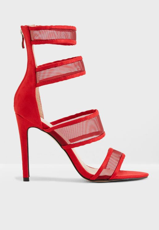 Lexi Strappy Mesh High Heel