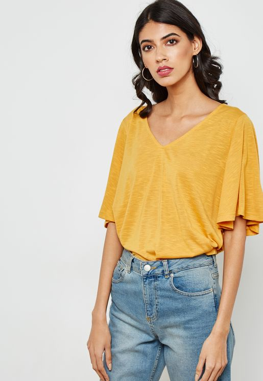 Flared Sleeve T-Shirt