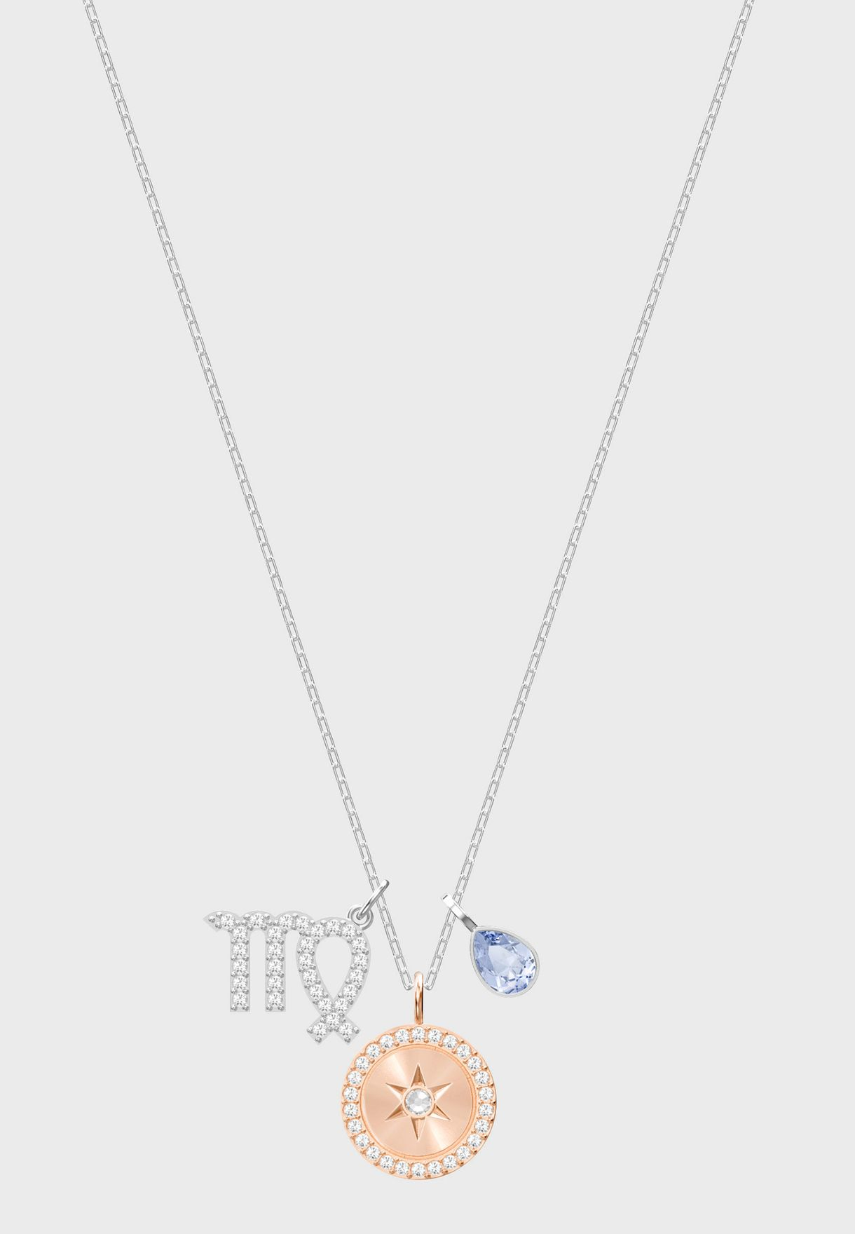 Zodiac Pendant, Virgo, Violet Necklace