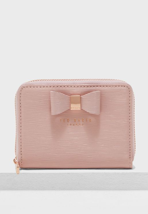 Aureole Textured Small Zip Purse