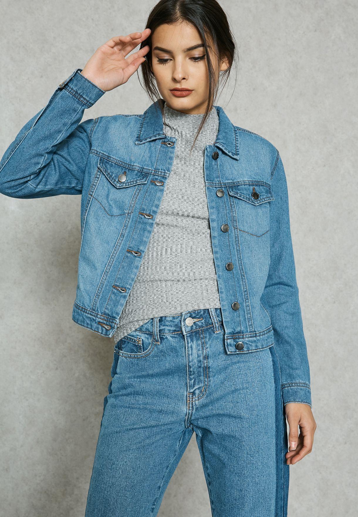 87f37c352 تسوق جاكيت جينز ماركة جاكلين دي يونج لون أزرق 15129781 في السعودية ...