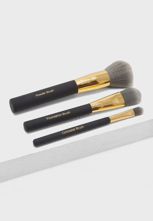 Charcoal Infused Face Brush Kit