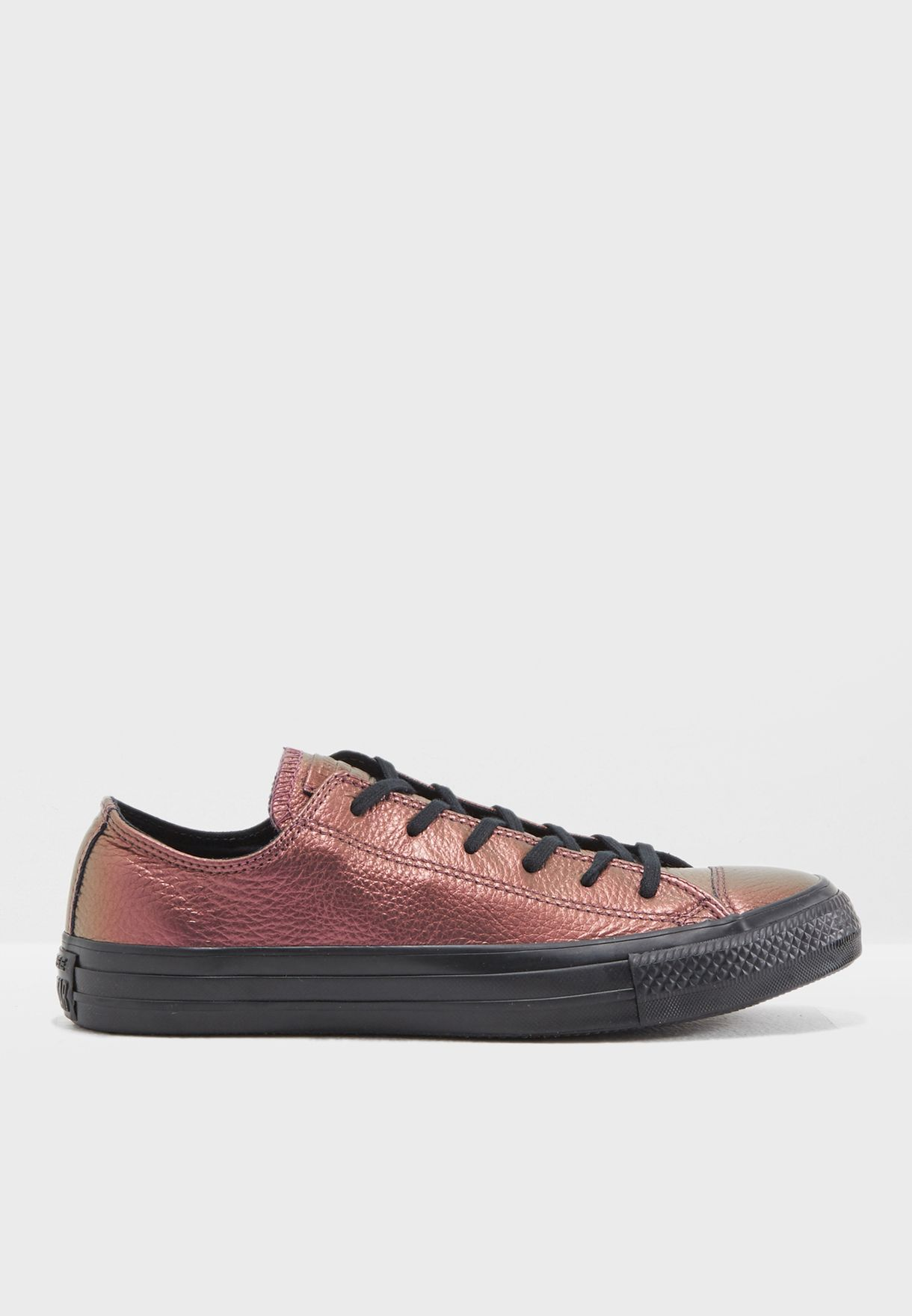 dd00ccc1ccdfef Shop Converse purple Chuck Taylor All Star Iridescent Leather ...