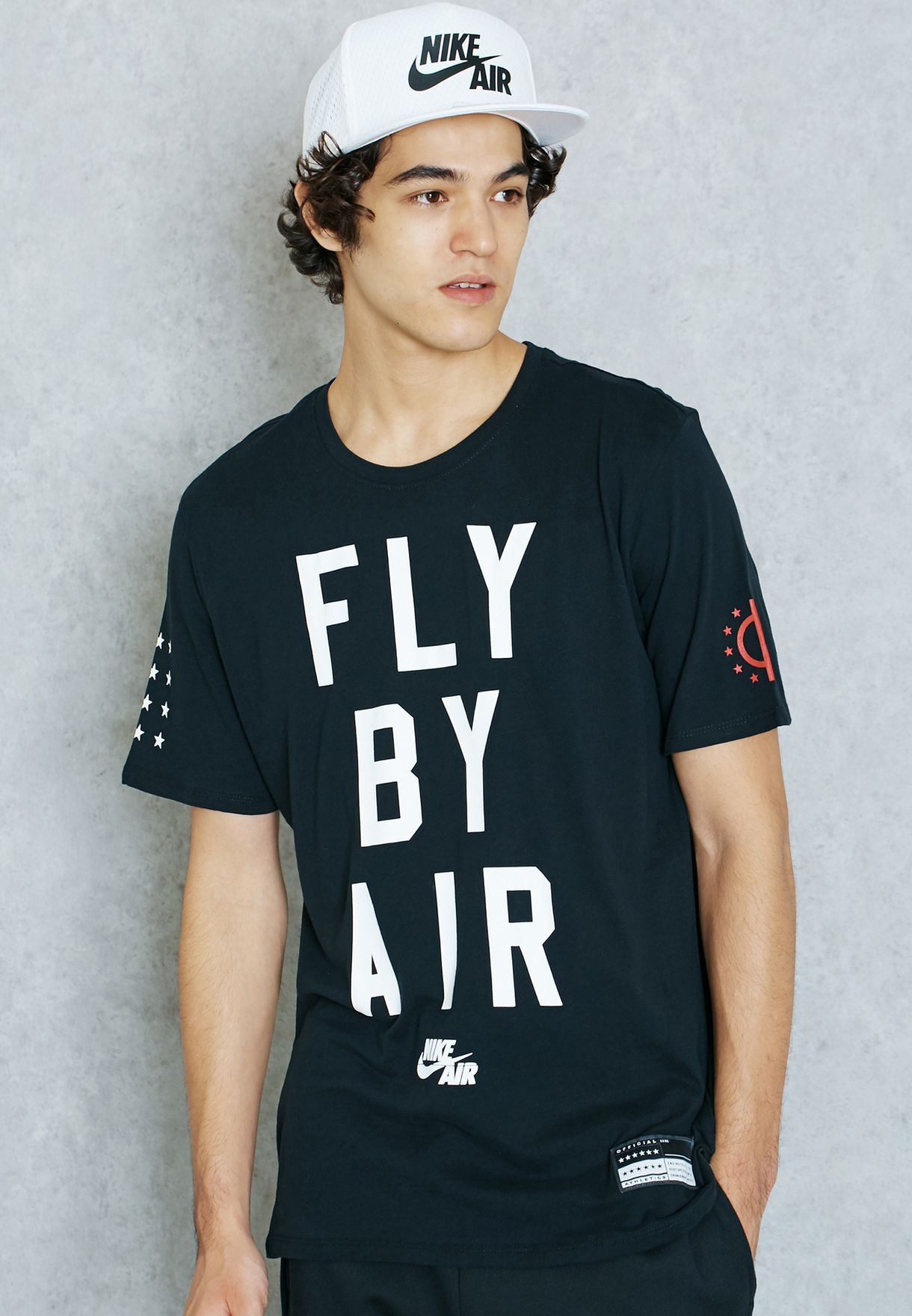 907f6f907386 Shop Nike black Fly By Air T-Shirt 822648-010 for Men in Qatar -  NI727AT64DSD