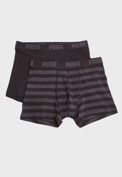 2 Packs Stripe Boxers