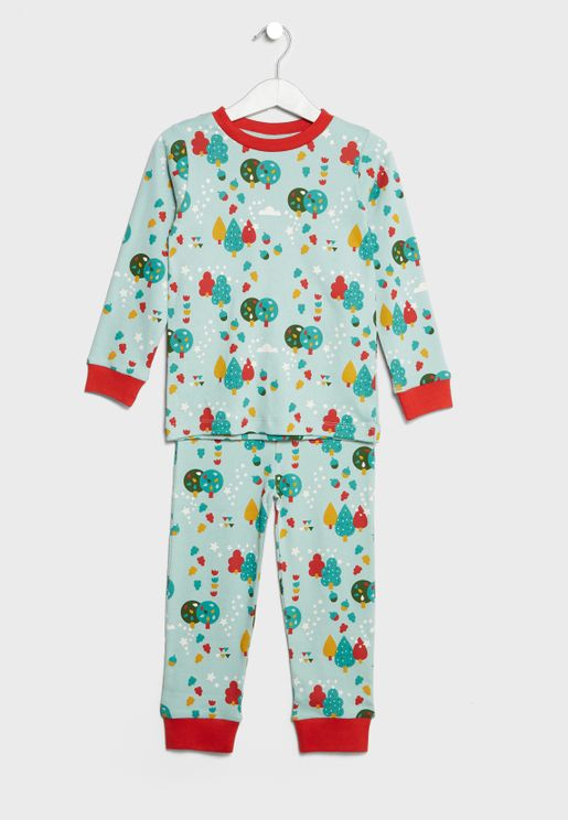 Little Organic Leaves Pyjama Set