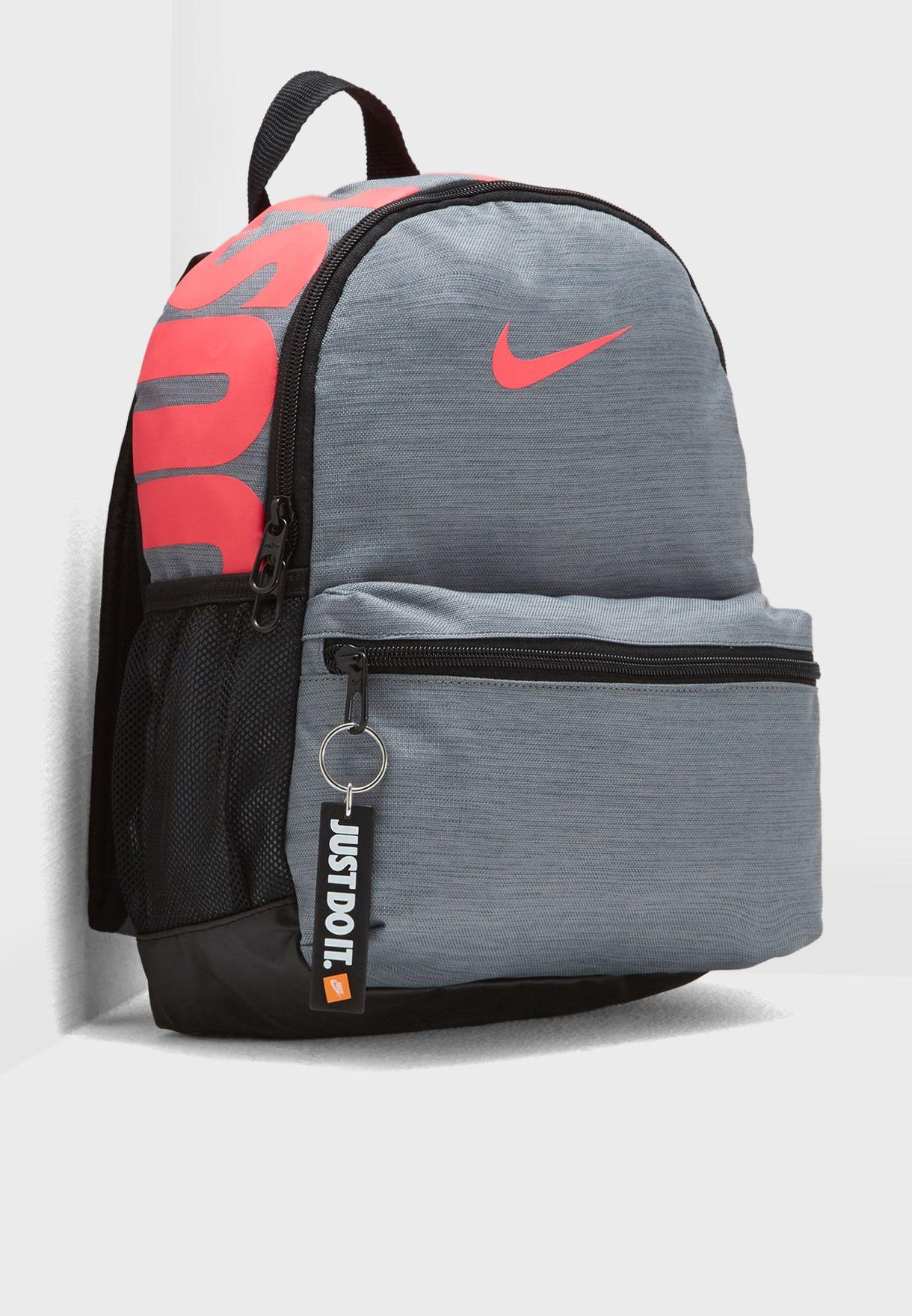93edea190a35 Shop Nike grey Brasilia Just Do It Mini Backpack BA5559-065 for Kids in  Saudi - NI727AC64CMX