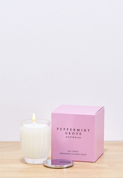 Passionfruit & Purple Violet Scented Candle 60g