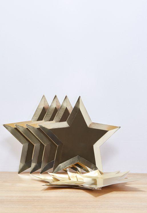Star Foil Plates 8pcs