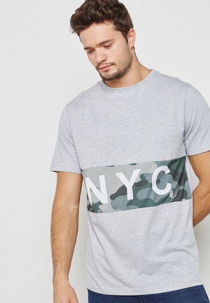 NYC Camo Print T-Shirt