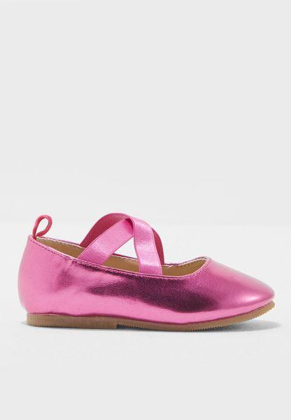 حذاء لامع بسيور