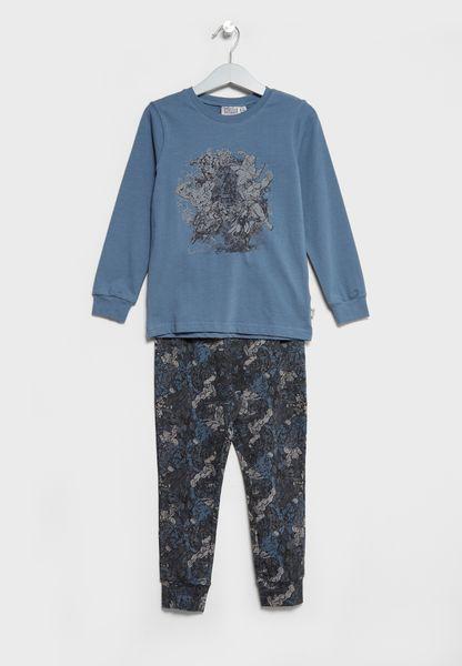 Little Avengers T-Shirt + Pyjamas Set