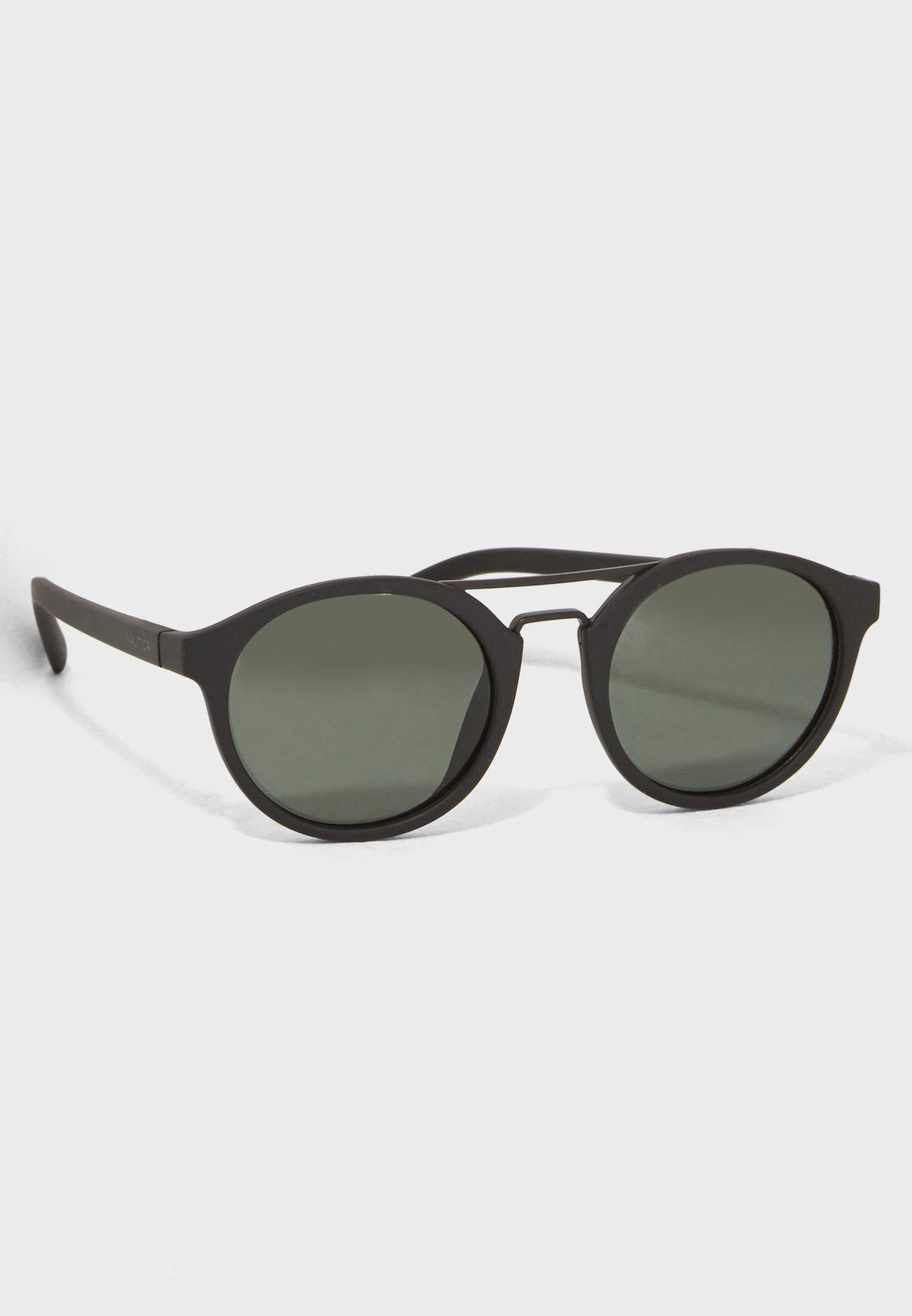 64355bd3a87 Shop Nautica black Round Sunglasses N3626SP-005 for Men in UAE ...