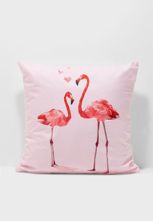 Flamingo Hearts Cushion With Insert 45*45cm