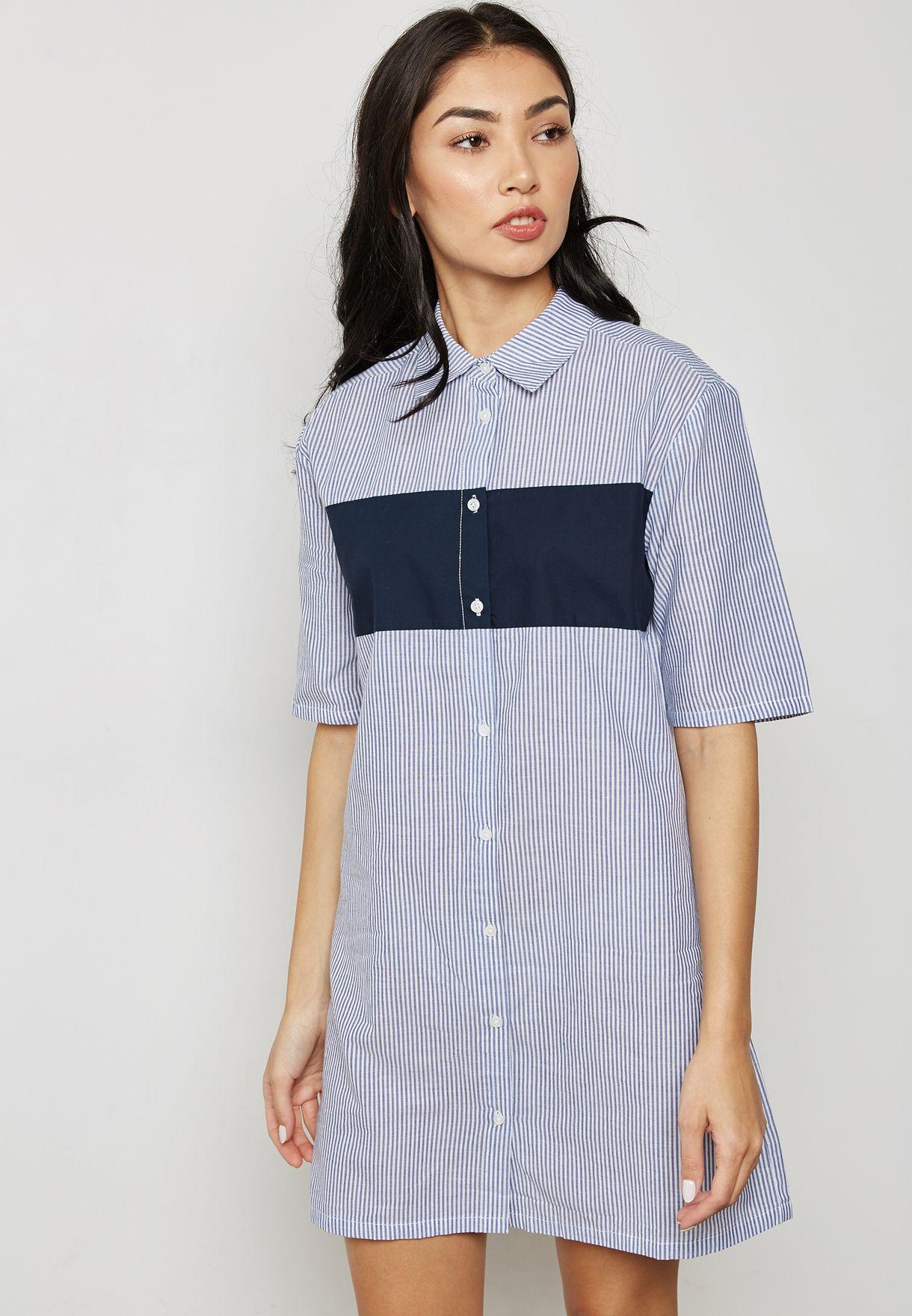 d70a22d542 Shop Mango stripes Striped Shirt Dress 23080335 for Women in UAE ...