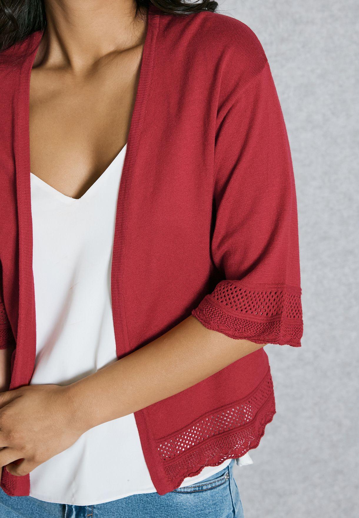 Crochet Detail Cardigan