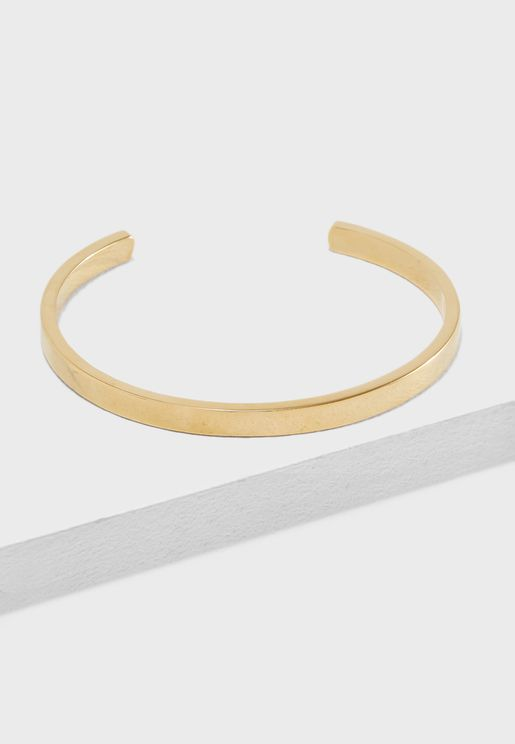 Clean Brass Cuff Bracelet