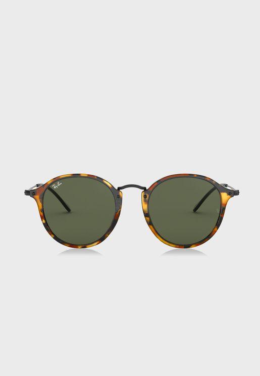 0RB2447 Fleck Full Frame Round Sunglasses
