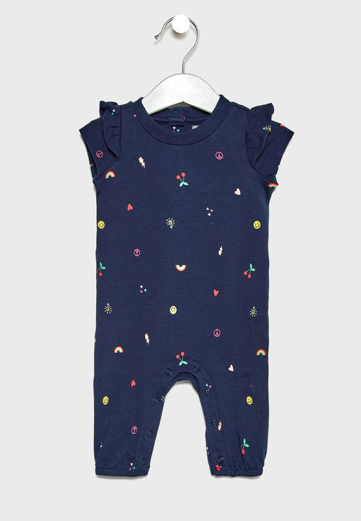 Infant Emoji Print Romper