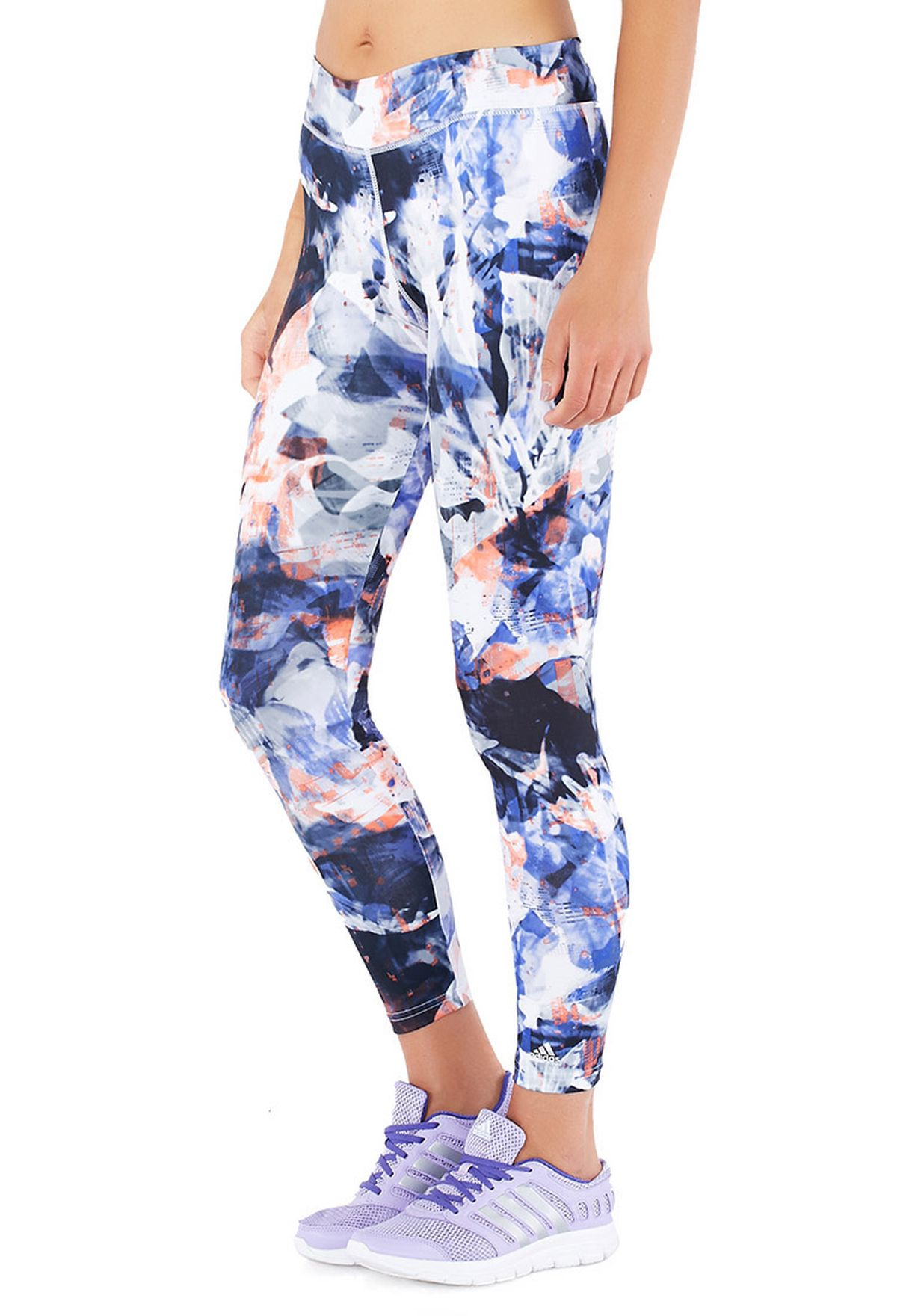 b99bdc41a6a58 Shop adidas multicolor Ultimate All Over Print Tights S19394 for ...