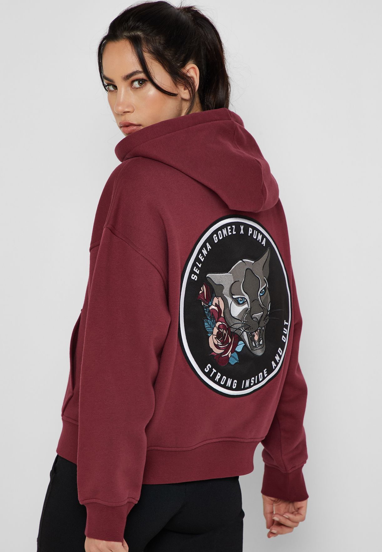 b2646be2a7b9 Shop PUMA red Selena Gomez Hoodie 51780503 for Women in Saudi ...